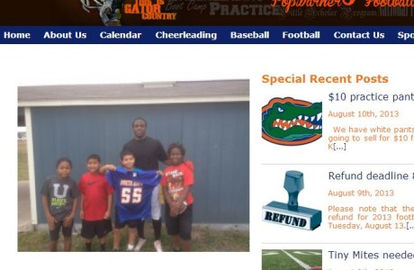Hays Pop Warner Football - Local Organization Website with custom Paypal Integration