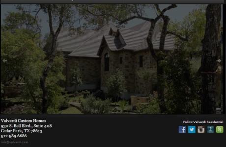 Valverdi Residential - Heavy Social Media Integration, Portfolios and Galleries